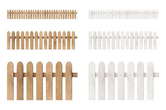 Set of wooden fences
