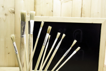 Brushes in different sizes