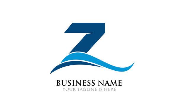 Simple Modern Blue Z Logo Move