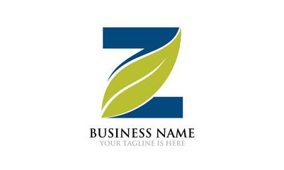 Eco Leaf Organic Z Logo Template