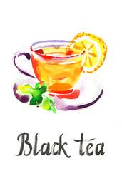 Watercolor black tea