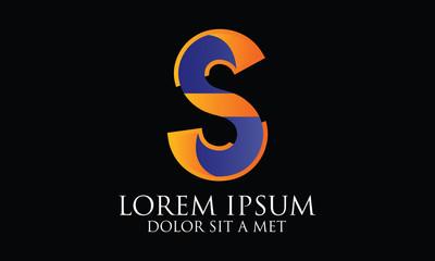 S Cool Icon Logo Vector - Logo Template