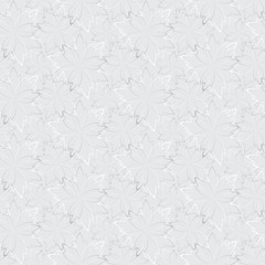 Grey seamless wallpaper with floral pattern