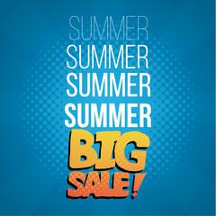 Summer Sale Illustratiion over color background