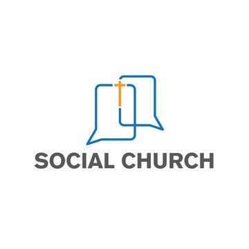 social church vector design template