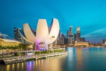 Foto op Plexiglas Singapore Singapore Skyline and view of Marina Bay