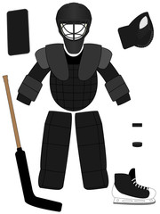 Ice Hockey Goalkeeper Equipment Kit
