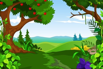 beauty green forest for you design
