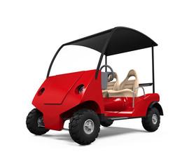 Red Golf Cart