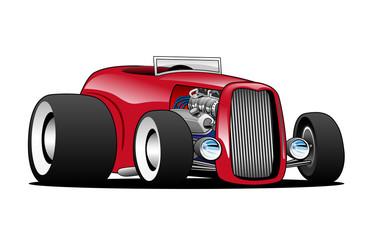 Classic Street Rod Hi Boy Roadster Vector Illustration Wall mural