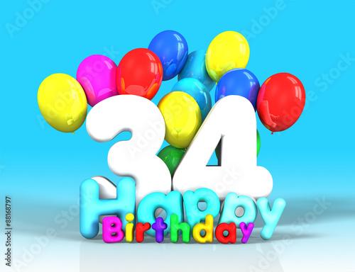 Поздравления с днем рождения с 34 лет 54