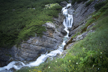 Mountain waterfall