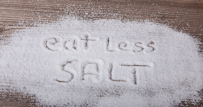 Eat less salt - medical concept