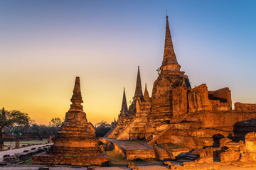 Wat Phrasisanpetch in the Ayutthaya