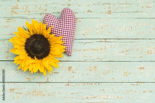 Geschenk Geburtstag Karte Gutschein Vorlage mit Sonnenblume und Herz ...