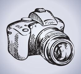 Camera. Vector drawing