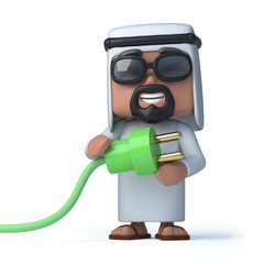 3d Arab uses green energy