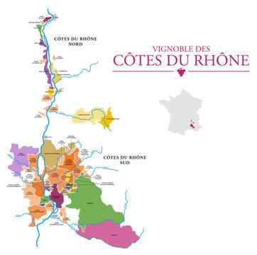 Vignoble des Côtes du Rhône