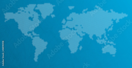 Hexagonal dots world map stock image and royalty free vector files hexagonal dots world map gumiabroncs Gallery