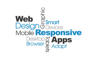 mobile responsive web design infographic on white background