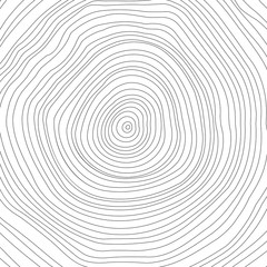Vector conceptual background with tree-rings. Tree cut. Stump
