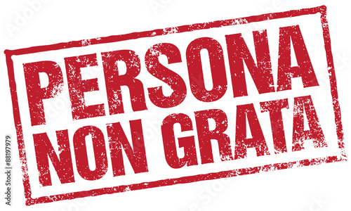 """""""persona Non Grata Stamp"""" Stock Image And Royalty-free"""