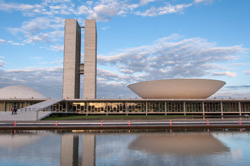 Brazilian National Congress Building in Brasilia City