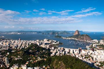 Skyline of Rio de Janeiro, Botafogo and Sugarloaf Mountain