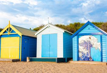 Bathing boxes at Brighton Beach, Australia