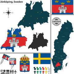 Map of Jonkoping, Sweden