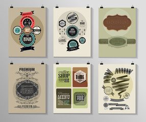 Set of poster, flyer, brochure design templates