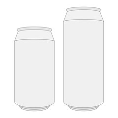 Two blank white Beer Cans with Place for your Design and Brandin