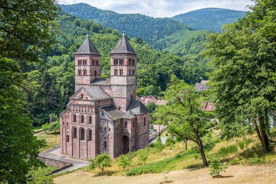 Abbaye de Murbach depuis la Chapelle Notre-Dame de Lorette
