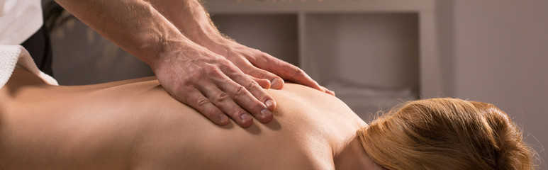 Back relaxing massage