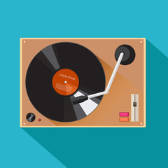 Player for vinyl record