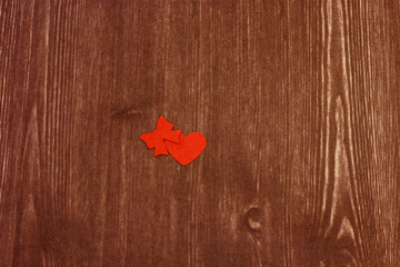 heart on a wood texture