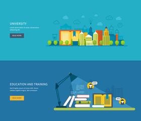 Flat design modern vector illustration icons set of global