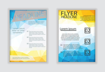 Vector business brochure flyer stationery with white background