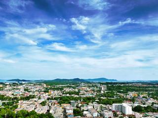 Aerial view of Phuket island Thailand.