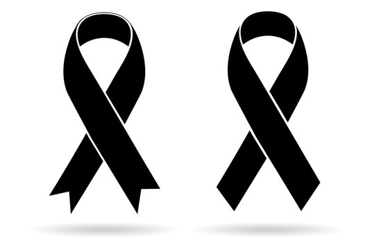 Mourning and melanoma support symbol
