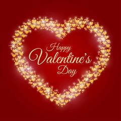 Hearts frame Valentine's day