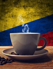 coffee and flag