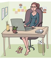 woman - office worker