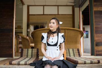 japanese style maid cosplay cute girl