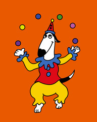Bingo Clown Dog