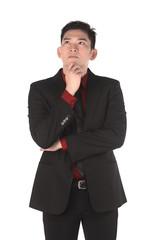 Asian Business Man Thinking
