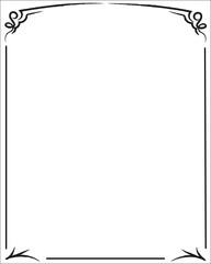 Elegant decorative black frame on a white background. Vector frame.