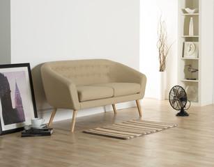 Contemporary Sofa in White Room