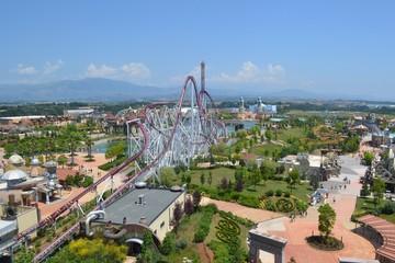 amusement park seen from above