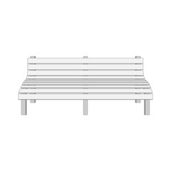 Single white modern Bench